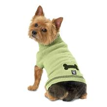 Cali's Cable Knit Dog Sweater - Turf Green