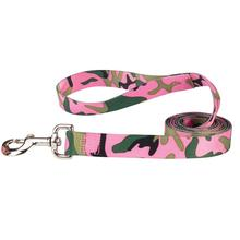 Guardian Gear Camo Dog Leash - Pink & Green
