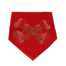 Candy Cane Crossbones Rhinestone Dog Bandana - Red