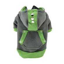 Candy Dog Hoodie - Green and Gray