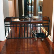 Carlson Design Studio Expandable Dog Gate with Small Pet Door