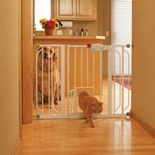 Carlson Extra Wide Walk-Thru Dog Gate with Pet Door
