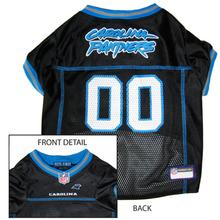 Carolina Panthers Officially Licensed Dog Jersey - Blue Trim