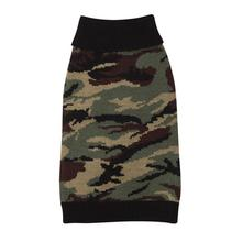 Casual Canine Camo Dog Sweater - Green