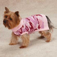 Casual Canine Camo Dog Sweater - Pink