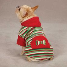 Casual Canine Christmas Fleece Dog Hoodie