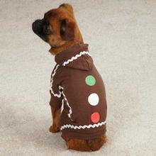 Gingerbread Dog Pajamas - Brown