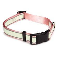 Casual Canine Glow Nylon Dog Collar - Pink