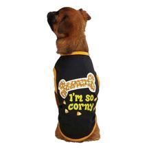 Casual Canine I'm So Corny Dog T-Shirt - Black