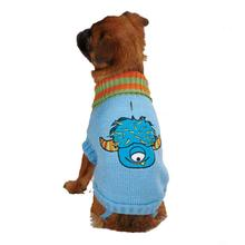 Casual Canine Lil Monster Dog Sweater - Blue