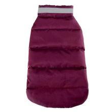 North Paw Puffy Dog Vest - Deep Raspberry
