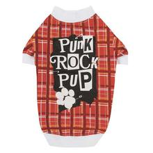 Punk Rock Pup Dog T-Shirt - Red