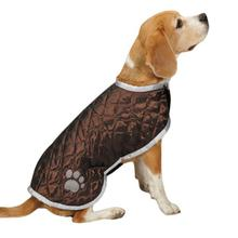 Quilted Nor'Easter Dog Coat - Brown