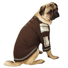 Rad Plaid Henley Dog Shirt - Chocolate