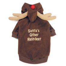 Reindeer Dog Hoodie - Brown