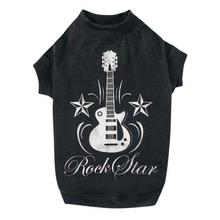 Rock Star Dog T-Shirt - Black