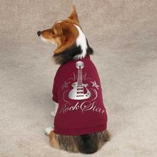 Rock Star Dog T-Shirt - Deep Raspberry