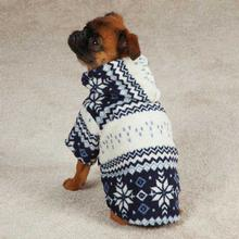 Snowdrift Cuddler Fleece Dog Hoodie - Blue