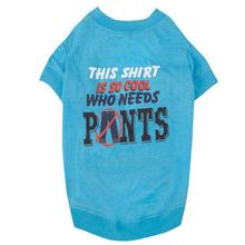 Who Needs Pants Dog T-Shirt - Blue