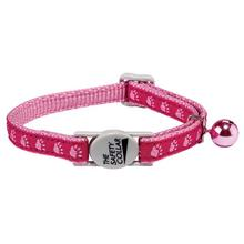 Casual Kitty Two Tone Pawprint Cat Collar - Pink