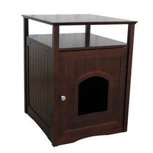Cat Washroom and Night Stand - Walnut