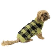 Checker's Dog Sweater - Winter Pear and Black