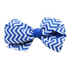 Chevron Dog Barrette - Blue