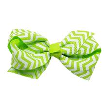 Chevron Dog Bow - Green