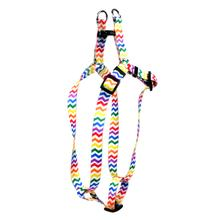 Chevron Step-In Dog Harness by Yellow Dog - Candy Stripe