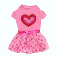 Chiffon Heart Shirt & Skirt Set