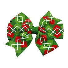 Christmas Argyle Dog Bow