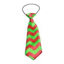 Christmas Chevron Big Dog Neck Tie