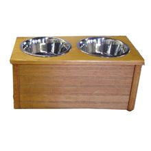 Classic Beadboard Double Dog Diner - Honey Pine
