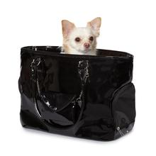 Classic Patent Dog Carrier by Zack & Zoey - Black
