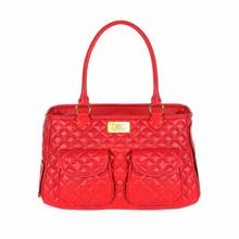 Classic Satchel Dog Carrier by Dogs of Glamour - Red
