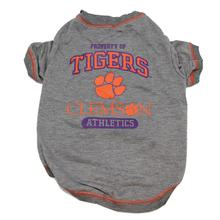 Clemson Tigers Dog T-Shirt - Gray