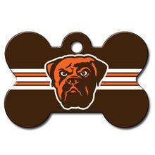 Cleveland Browns Engravable Pet I.D. Tag - Bone