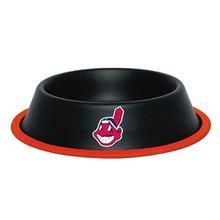 Cleveland Indians Dog Bowl - Black