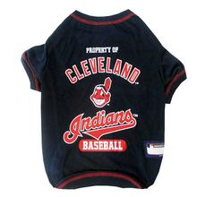 Cleveland Indians Dog T-Shirt - Navy Blue