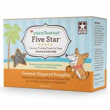 CocoTherapy Five Star Coconut Training Dog Treat - Gingered Pumpkin
