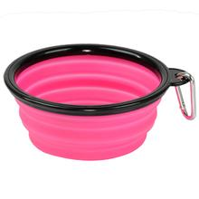 Collapsible Silicone Dog Bowls by Body Glove - Pink