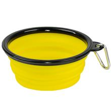 Collapsible Silicone Dog Bowls by Body Glove - Yellow