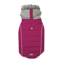 Combo Knit Dog Jacket - Berry