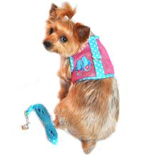 Cool Mesh Dog Harness Under the Sea Collection - Pink and Blue Flip Flops