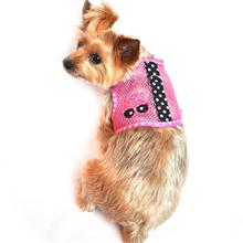 Cool Mesh Velcro Dog Harness - Sunglasses Pink & Black