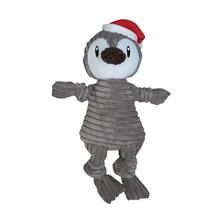 Corduroy Knotted Holiday Dog Toy from FouFou Dog - Penguin