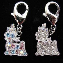 Crystal Yorkie Dog Collar Charm