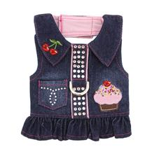 Cupcake Denim Dog Harness Dress