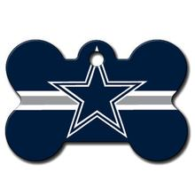 Dallas Cowboys Engravable Pet I.D. Tag - Bone