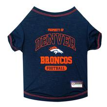 Denver Broncos Dog T-Shirt - Blue